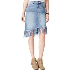 🎄Boho Frayed Jean Skirt